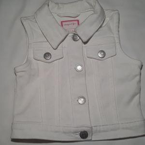 {Gymboree} Toddler Girl's 2T White Denim Vest